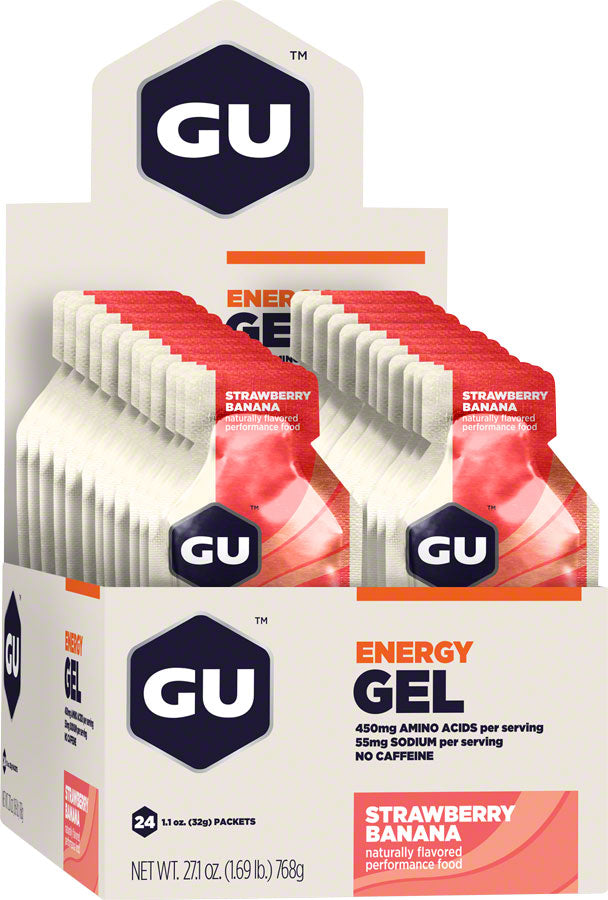 GU Energy Gel: Strawberry/Banana, Box of 24 MPN: 123052 UPC: 769493200105 Gel Energy Gel
