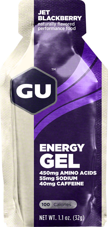 GU Energy Gel: Jet Blackberry, Box of 24 - Gel - Energy Gel