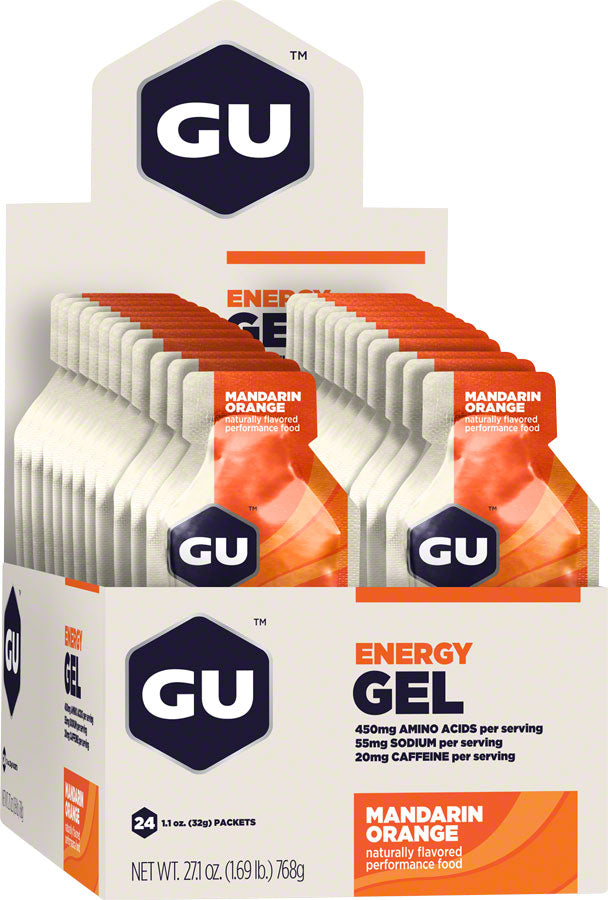 GU Energy Gel: Mandarin Orange, Box of 24 MPN: 123043 UPC: 769493200143 Gel Energy Gel