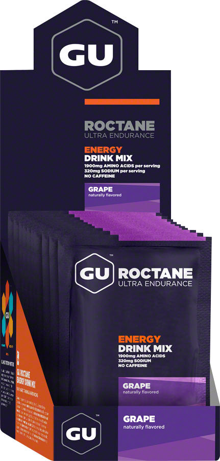 GU Roctane Energy Drink Mix: Grape, Box of 10