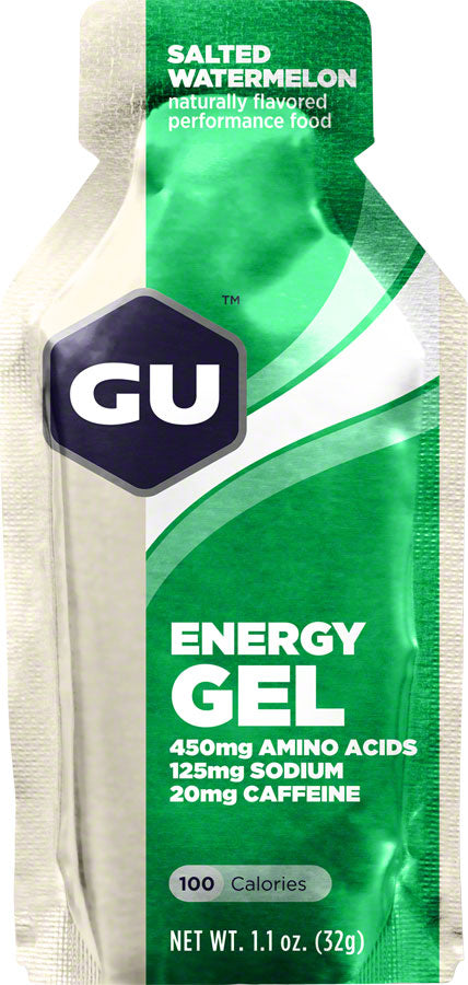 GU Energy Gel: Salted Watermelon, Box of 24 - Gel - Energy Gel