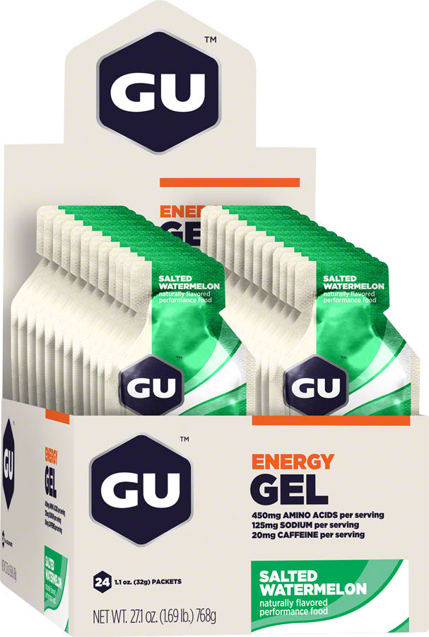 GU Energy Gel: Salted Watermelon, Box of 24 MPN: 123055 UPC: 769493200211