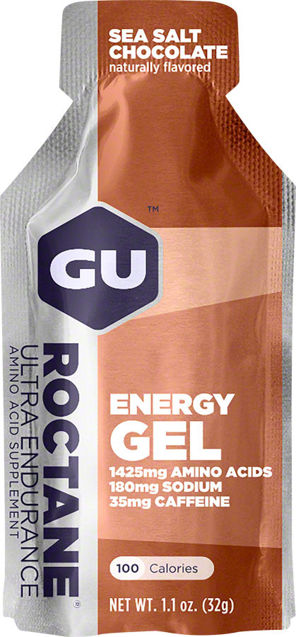 GU Roctane Energy Gel: Sea Salt Chocolate, Box of 24 - Gel - Roctane Gel