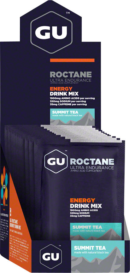 GU Roctane Energy Drink Mix: Summit Tea, Box of 10