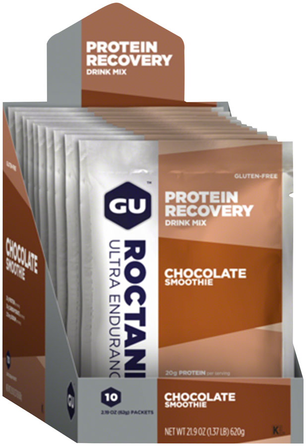 GU Roctane Recovery Drink Mix: Chocolate Smoothie, 10 Pack
