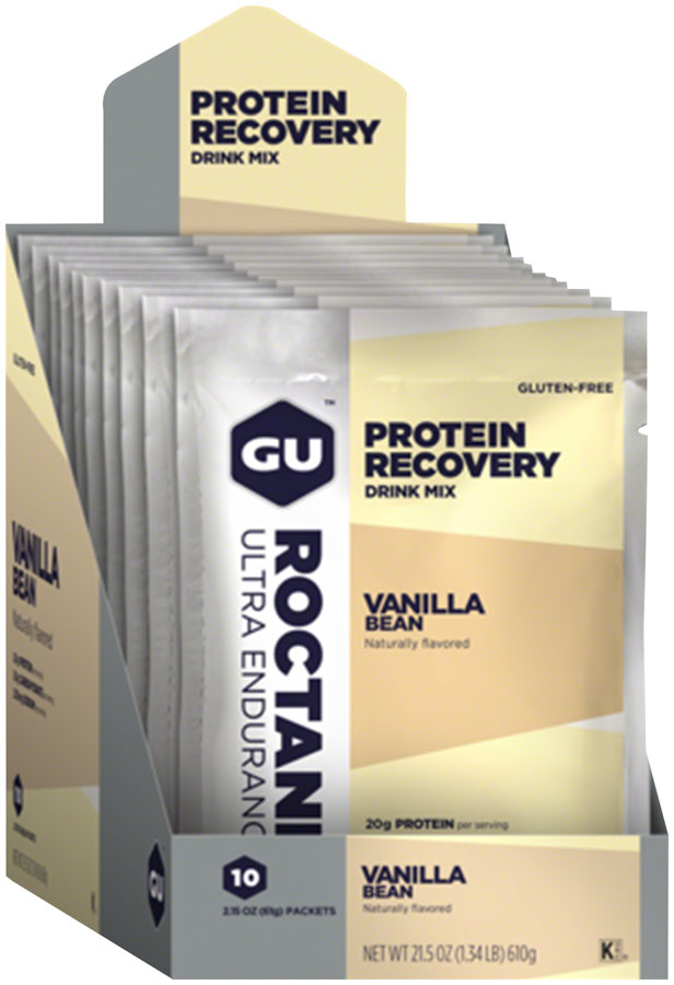 GU Roctane Recovery Drink Mix: Vanilla Bean, 10 Pack