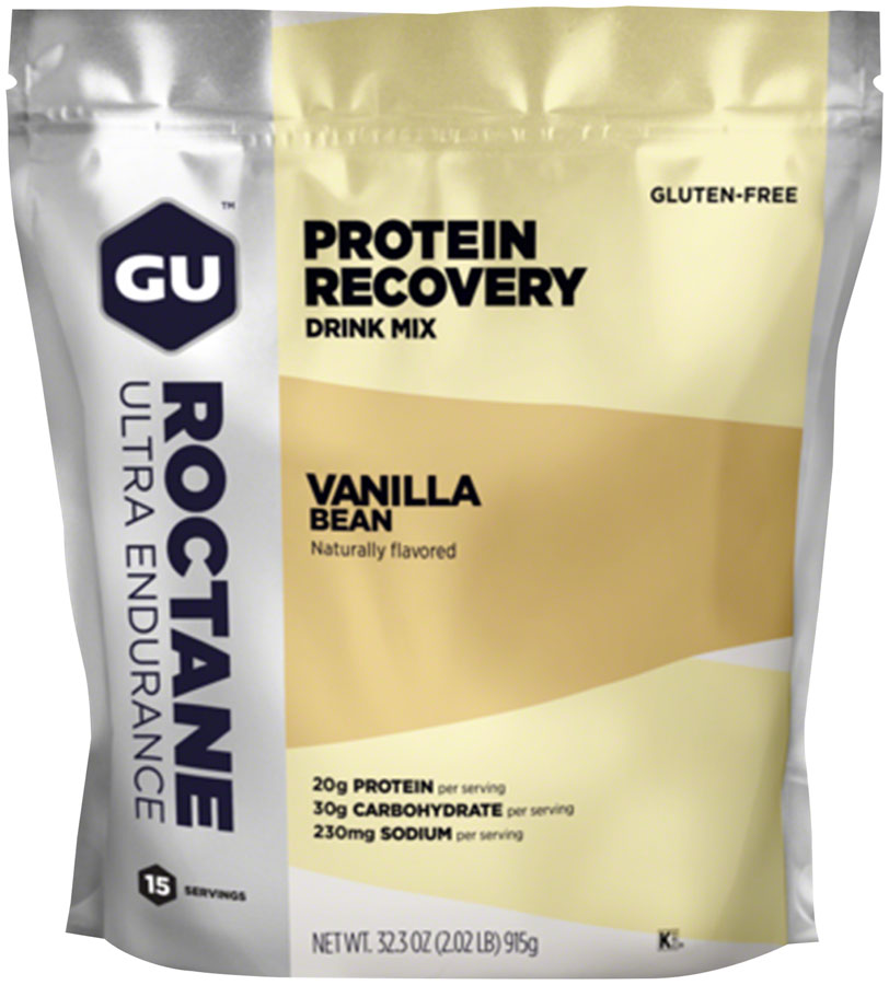 GU Roctane Recovery Drink Mix: Vanilla Bean, 15 Serving Packet