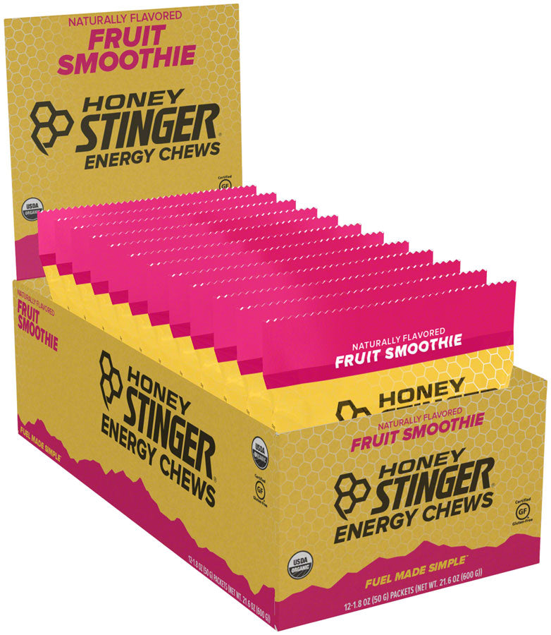 Honey Stinger Organic Energy Chews: Fruit Smoothie, Box of 12