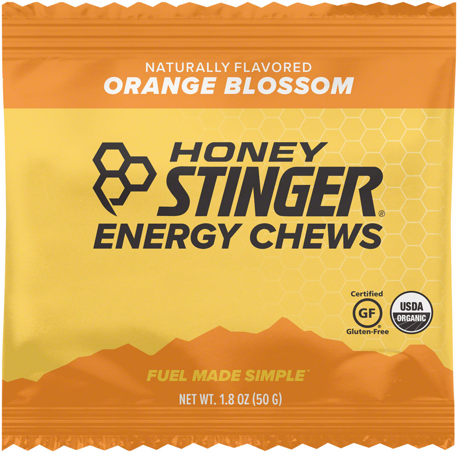 Honey Stinger Organic Energy Chews: Orange, Box of 12 - Chew - Organic Energy Chews
