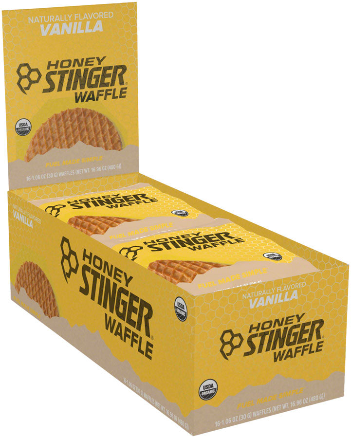 Honey Stinger Organic Waffle: Vanilla, Box of 16