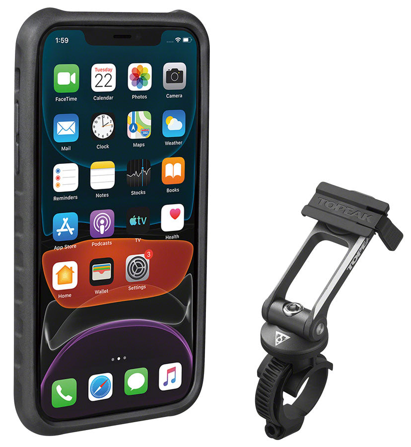 Topeak Omni Ride Case with Strap Mount Fit Black Smart Phone from 4.5 to 5.5