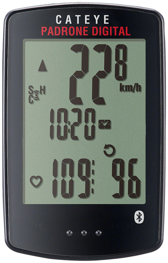 CatEye Padrone Digital Bike Computer - Wireless, Black