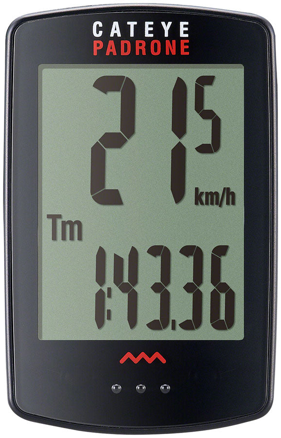CatEye Padrone Bike Computer - Wireless, Black