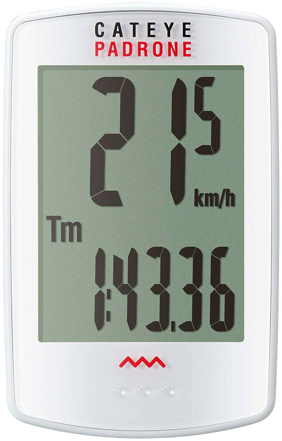 CatEye Padrone Bike Computer - Wireless, White