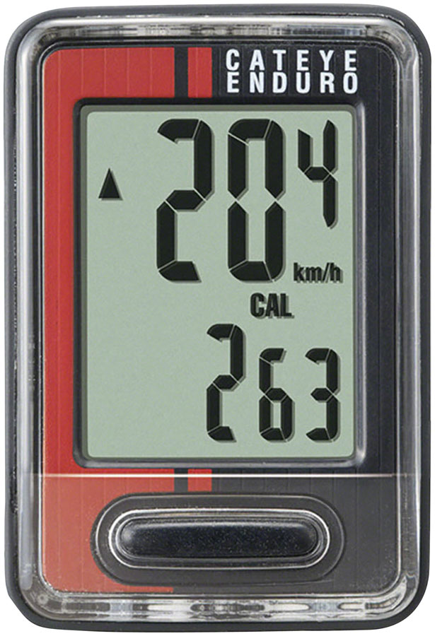 CatEye Enduro Bike Computer - Wired, Black/Red