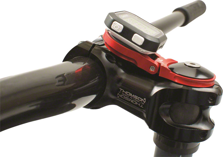 K-EDGE Adjustable Stem Mount for Garmin Quarter Turn Type Computers, Red - Computer Mount Kit/Adapter - Adjustable Stem Mount Garmin