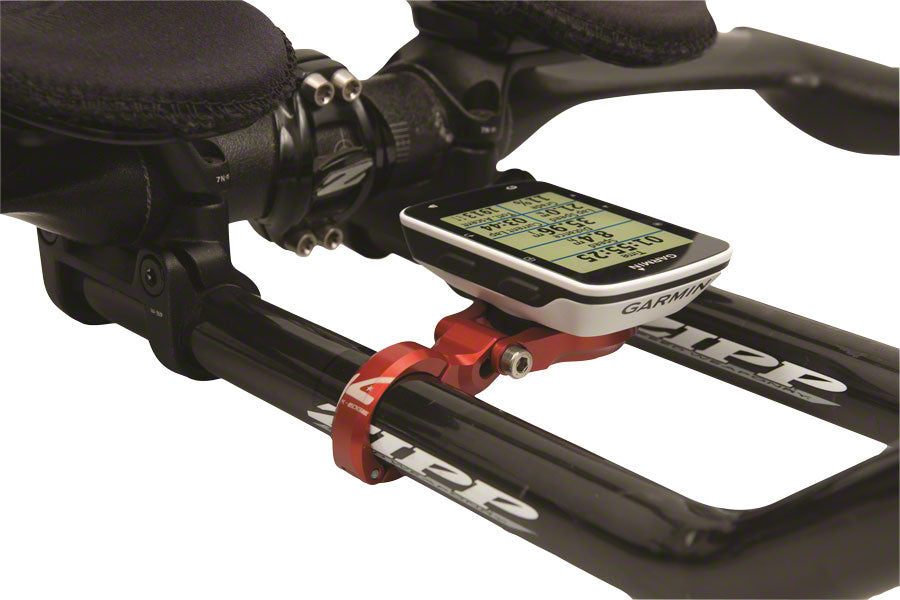 K-EDGE Garmin Sport TT/Aero Handlebar Mount: 22.2mm, Red - Computer Mount Kit/Adapter