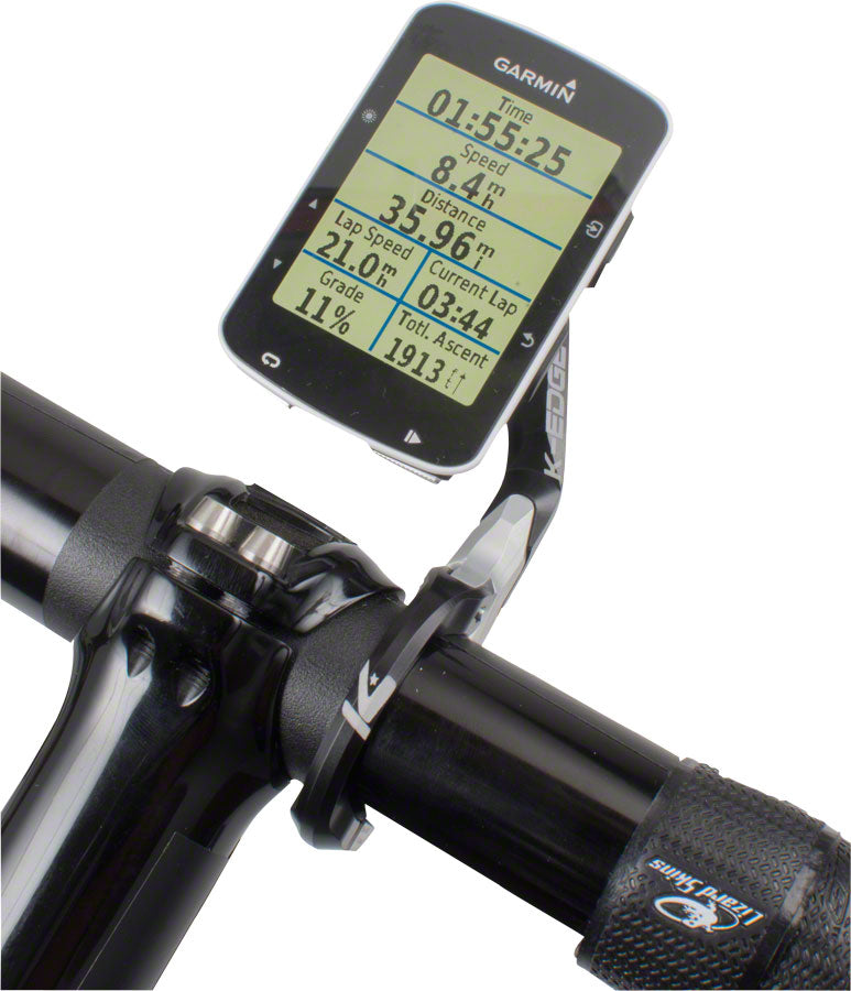 K-EDGE Garmin Race Handlebar Mount: 31.8mm, Black/Silver - Computer Mount Kit/Adapter