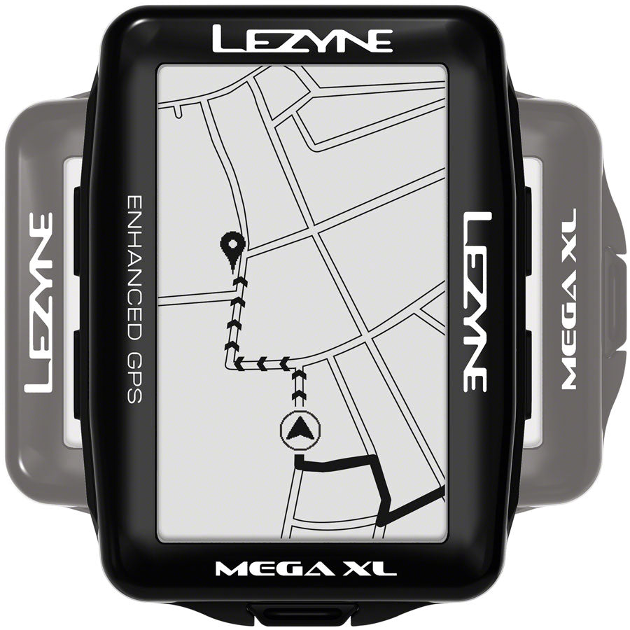 Lezyne Mega XL GPS Bike Computer - GPS, Wireless, Black MPN: 1-GPS-MEGAXL-V104 Bike Computers Mega XL GPS Bike Computer