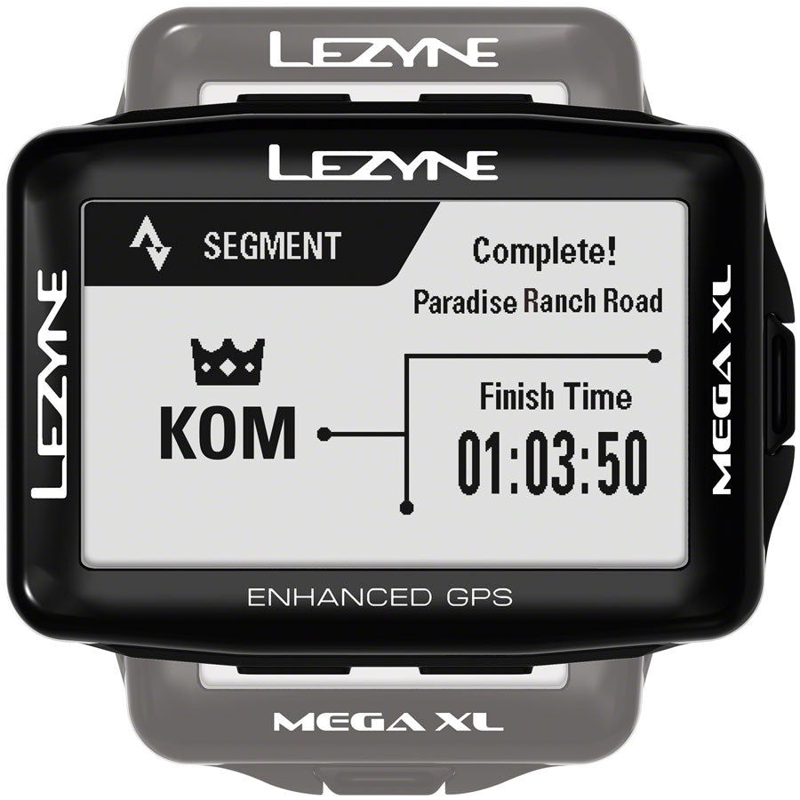Lezyne Mega XL GPS Bike Computer - GPS, Wireless, Black - Bike Computers - Mega XL GPS Bike Computer