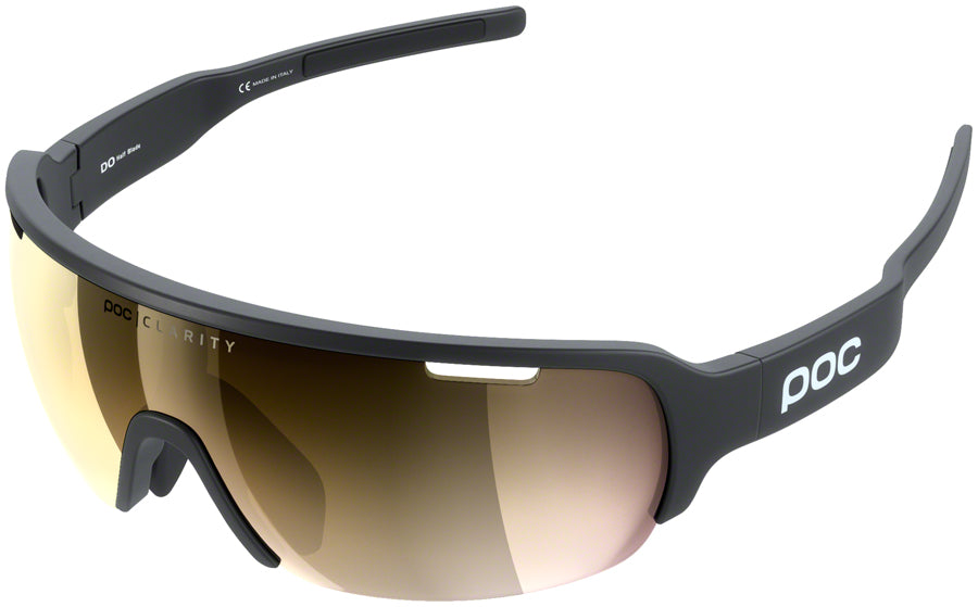 POC Do Half Blade Sunglasses - Uranium Black, Violet/Gold-Mirror Lens