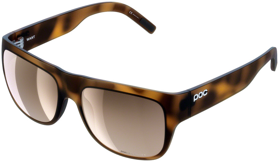 POC Want Sunglasses - Tortoise Brown, Brown/Silver-Mirror Lens