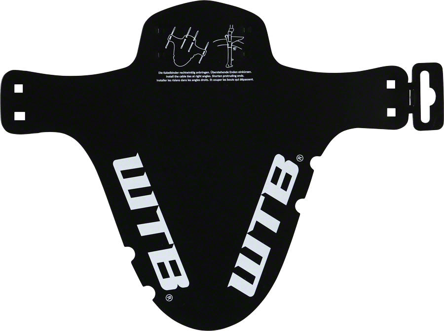 WTB Logo MTB Mud Guard, Fork Mount, Black