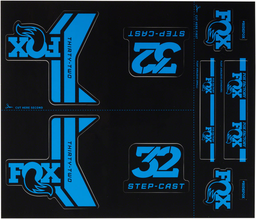 Fox Decal Kit for 32 Step-Cast Forks, Blue MPN: 803-01-181 Sticker/Decal Step Cast Decal Kit