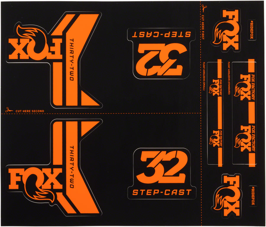 FOX Decal Kit for 32 Step-Cast Forks, Orange