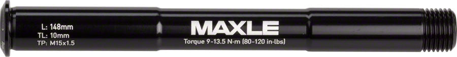 Maxle Stealth Front MTB 15x100mm Length 148mm, Thread 9mm, Pitch M15x1.50 Black