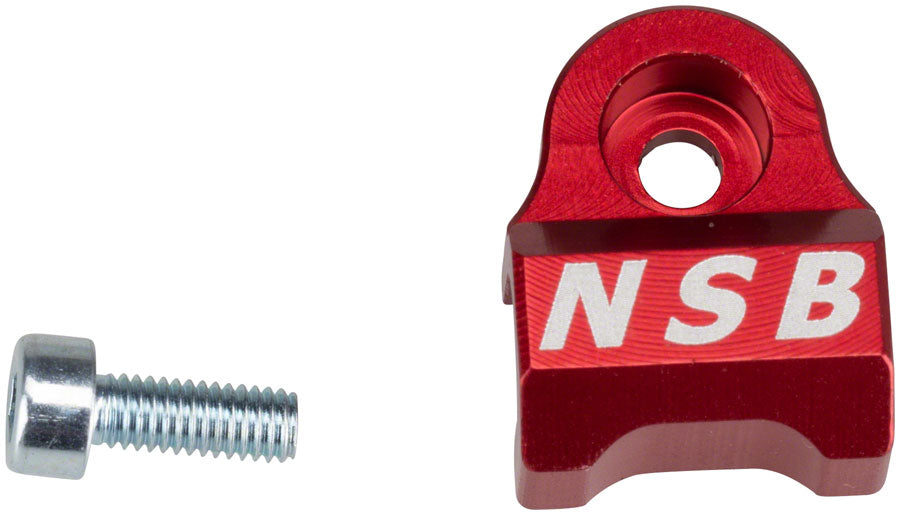 North Shore Billet 2008-2013 Fox 32 & 36 Cable Guide Red MPN: NSB FG0001-R UPC: 824528015038 Housing Guide Fork Cable Guides