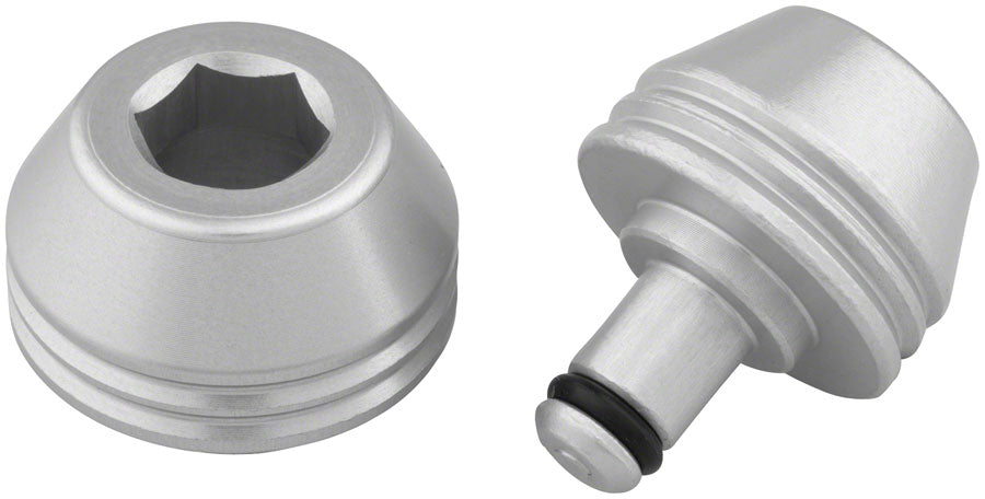 Wolf Tooth Axle Trainer Caps Silver