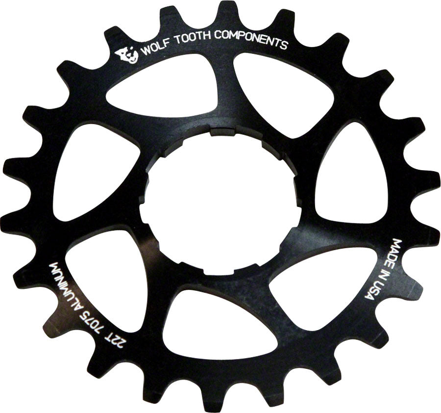 "Wolf Tooth Single Speed Aluminum Cog: 20T, Compatible with3/32"" chains MPN: AL-SS-COG20 UPC: 812719020848 Driver and Single Cog Alloy Singlespeed Cog"