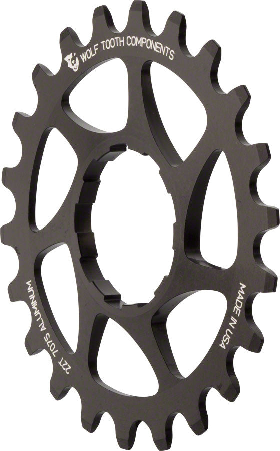 "Wolf Tooth Single Speed Aluminum Cog: 22T, Compatible with3/32"" chains MPN: AL-SS-COG22 UPC: 812719020855 Driver and Single Cog Alloy Singlespeed Cog"