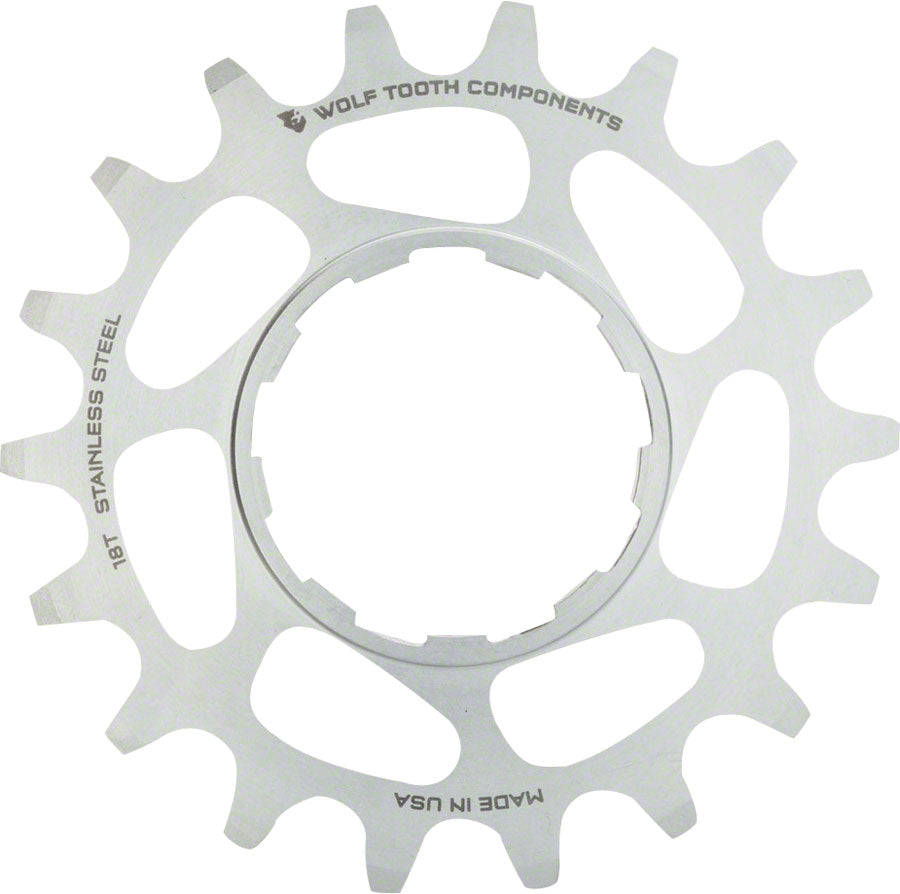 Wolf Tooth Single Speed Stainless Steel Cog: 16T, Compatible with 3/32