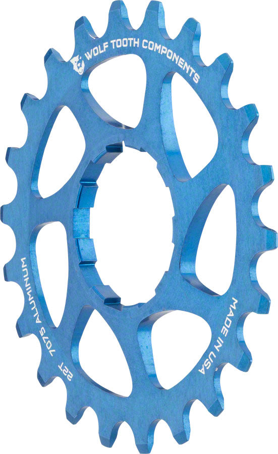 Wolf Tooth Single Speed Aluminum Cog: 22T, Compatible with 3/32