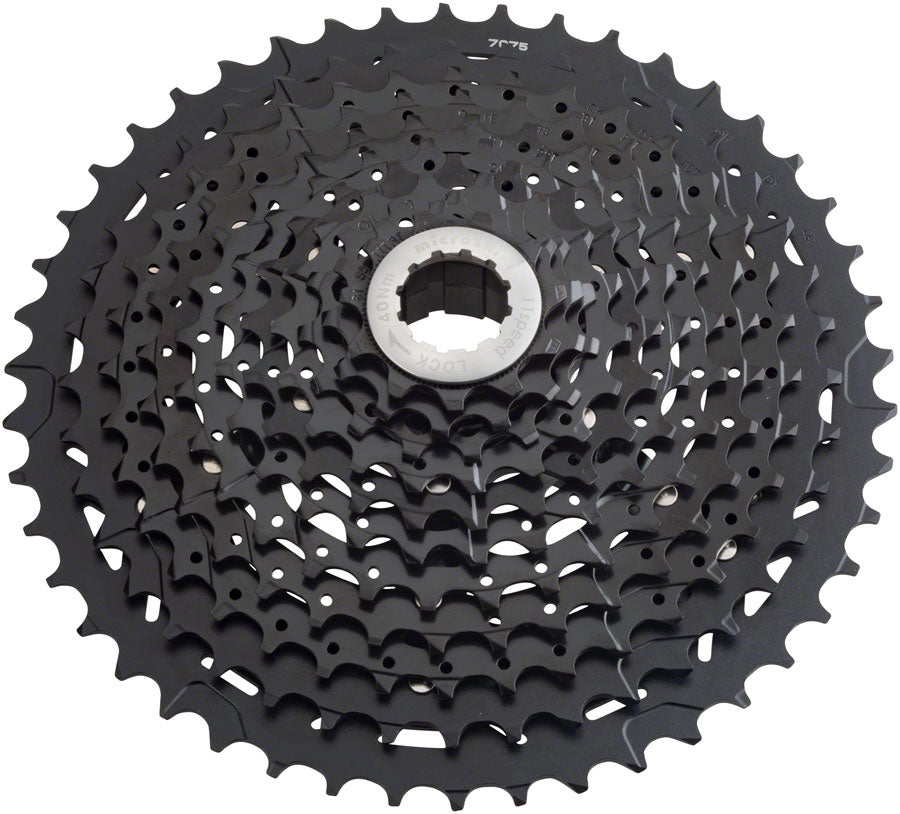 microSHIFT G11 Cassette - 11 Speed, 11-42t, Black, ED Coated, With Spider