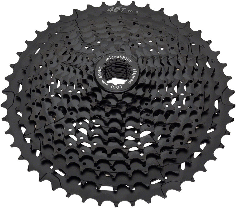 microSHIFT H11 Cassette - 11 Speed, 11-42t, Black, ED Coated