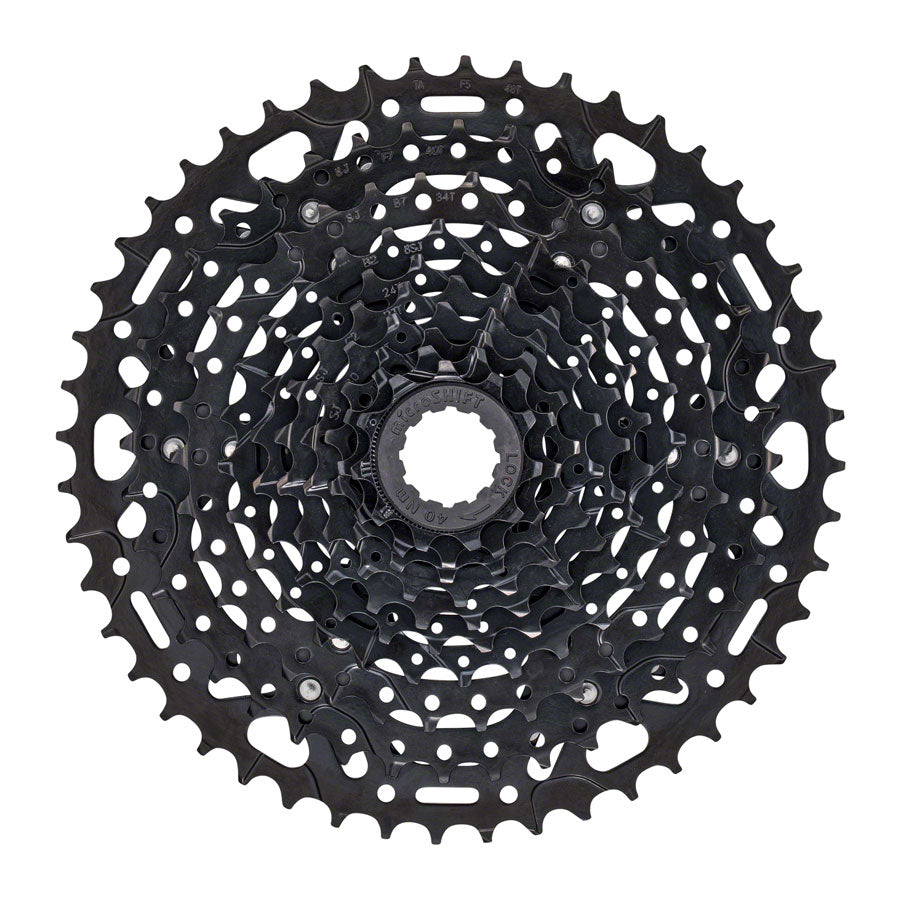 microSHIFT ADVENT X Cassette - 10 Speed, 11-48T, ED Black, Hardened Steel Cogs