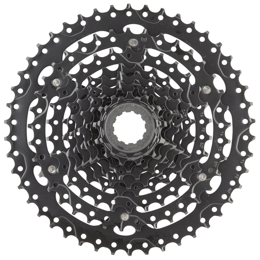 microSHIFT ADVENT Cassette - 9 Speed, 11-46T, ED Black, Hardened Steel Cogs