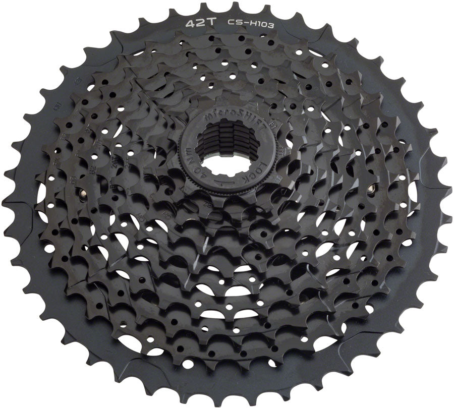 microSHIFT H10 Cassette - 10 Speed, 11-42t, Black