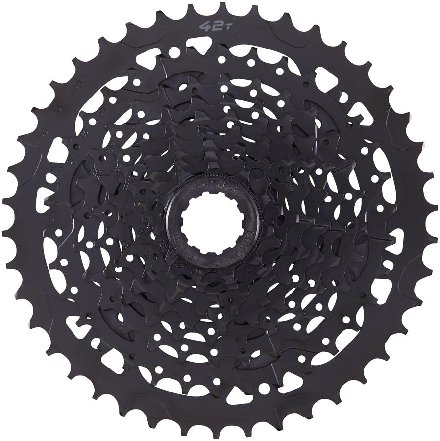 microSHIFT ADVENT Cassette - 9 Speed, 11-42t, Black, ED Coated, Alloy Large Cog