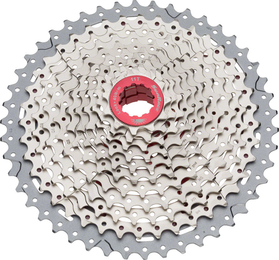 SunRace MX8 Cassette - 11 Speed, 11-46t, Silver