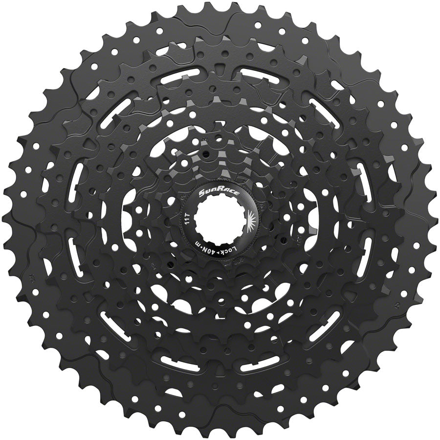 SunRace M993 Cassette - 9 Speed, 11-50t, ED Black, Alloy Spider and Lockring