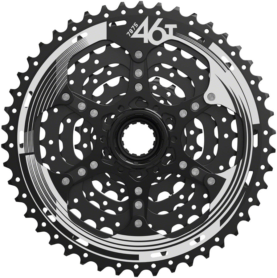 SunRace M993 Cassette - 9 Speed, 11-46t, ED Black, Alloy Spider and Lockring - Cassettes - M993 9-Speed Cassette
