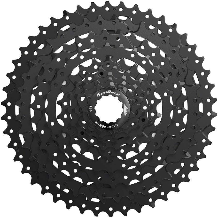 SunRace M993 Cassette - 9 Speed, 11-46t, ED Black, Alloy Spider and Lockring