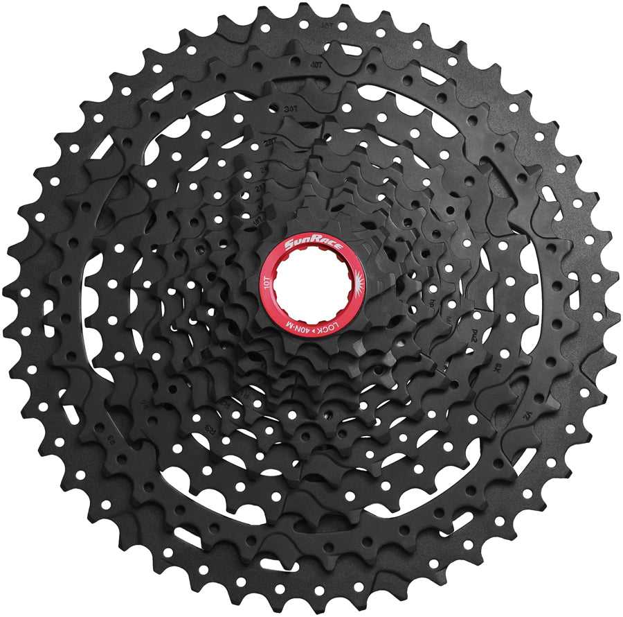 SunRace CSMX9X Cassette - 11-Speed, 10-46t, Black Chrome, For XD Driver Body
