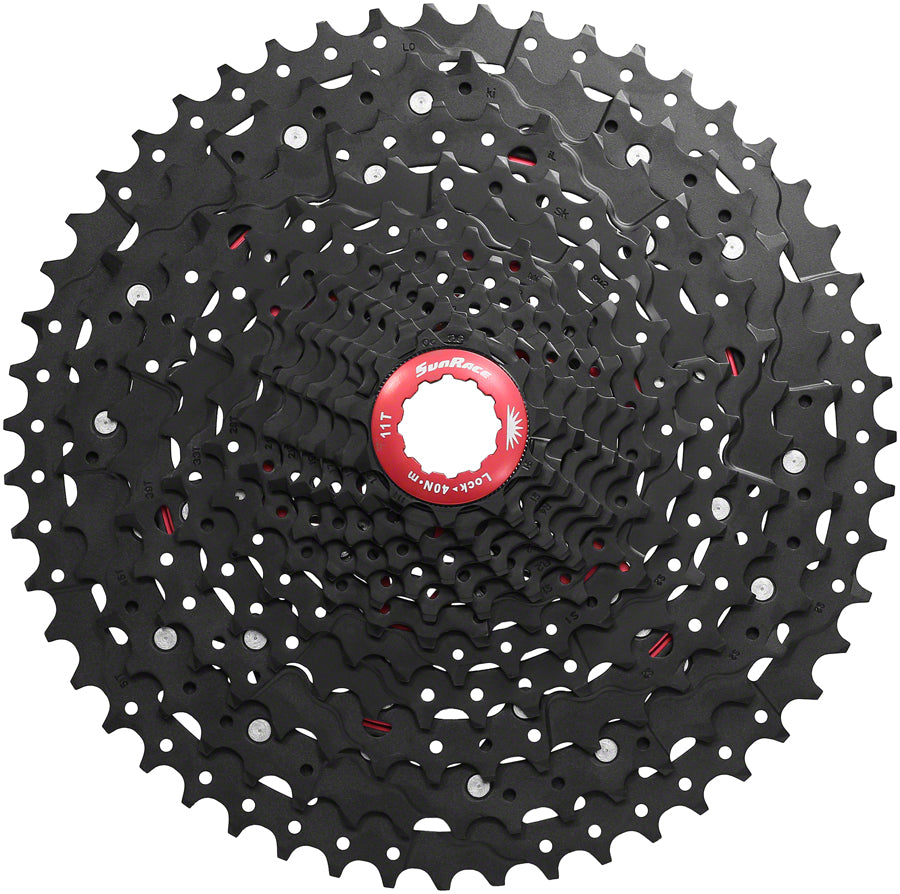 SunRace CSMZ903 Cassette - 12-Speed, 11-51t, Black Chrome