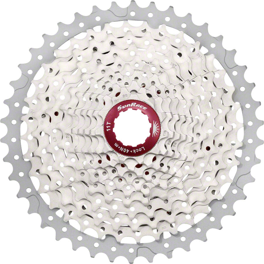 SunRace MX8 Cassette - 11 Speed, 11-42t, Silver