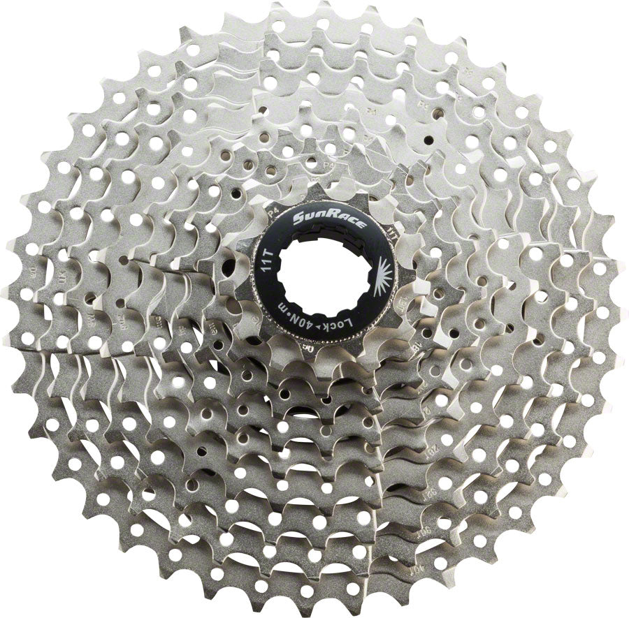 SunRace MS3 Cassette - 10 Speed, 11-40t, Silver